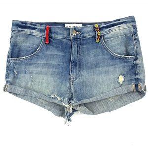 Wildfox Michelle Boyfriend Shorts Embroidered 27